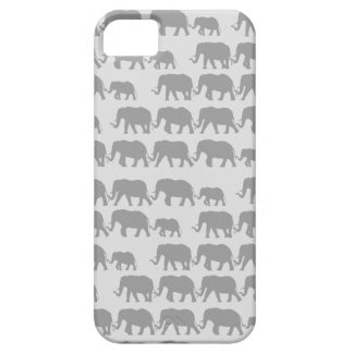 Gray Marching Elephant Family iPhone 5 Cases