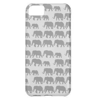 Gray Marching Elephant Family iPhone 5C Case