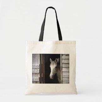Gray Mare Horse Budget Tote