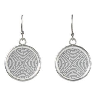 Gray Maze Earrings