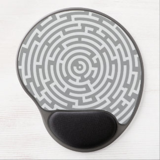Gray Maze Gel Mouse Pad