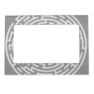 Gray Maze Magnetic Frame