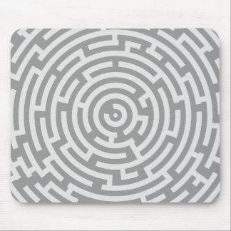 Gray Maze Mouse Pad