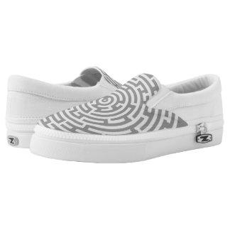 Gray Maze Slip-On Shoes
