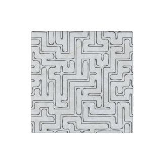 Gray Maze Stone Magnet