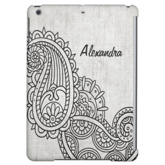 Gray Mehndi Motif Savvy iPad Air Case