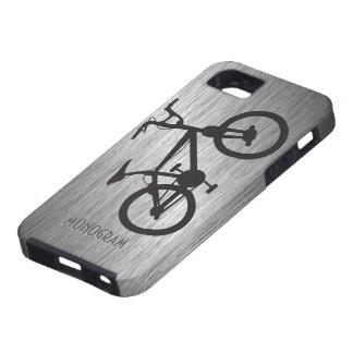 Gray Metallic Look Black Bicycle Tough iPhone 5 Case