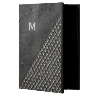 Gray Metallic Look Monogram iPad Air 2 Case