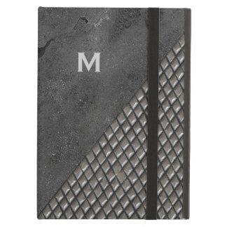 Gray Metallic Look Monogram iPad Air Case