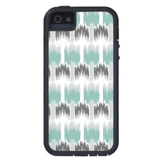 Gray Mint Aqua Modern Abstract Floral Ikat Pattern Case For The iPhone 5