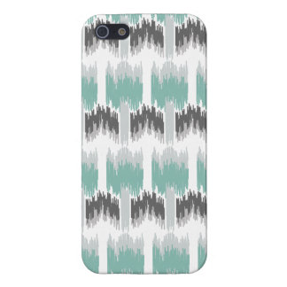 Gray Mint Aqua Modern Abstract Floral Ikat Pattern iPhone 5/5S Cover