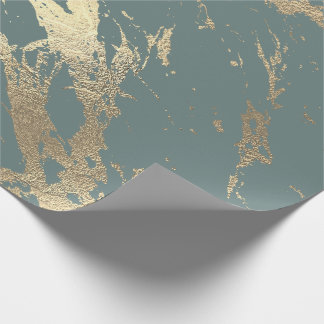 Gray Mint Foxier Gold Marble Shiny Glam