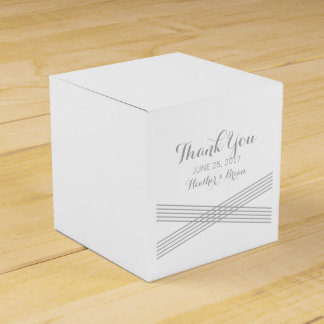 Gray Modern Deco Wedding Favor Boxes Party Favour Box
