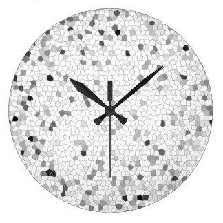 Gray Mosaic Large Clock