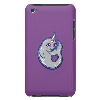Gray Narwhal Whale With Spots Ink Drawing Design iPod Touch Cases