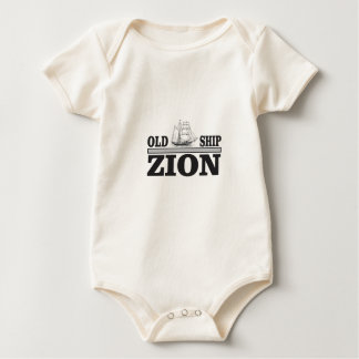 gray old ship zion baby bodysuit