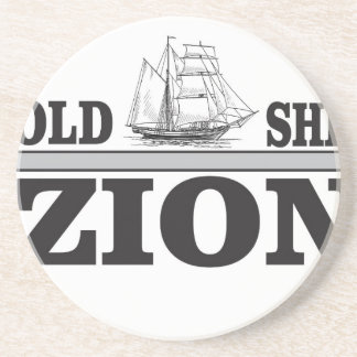 gray old ship zion drink coaster