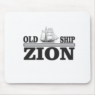 gray old ship zion mouse pad