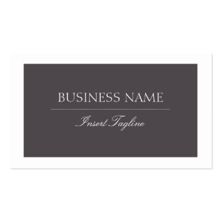 Gray Pack Of Standard Business Cards