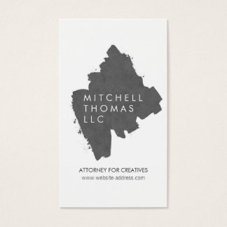 Gray Painted Logo for Attorneys, Lawyers Business Card