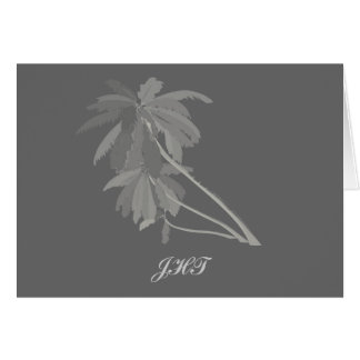 Gray Palms Personalized Note Cards H