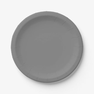Gray Paper Plate