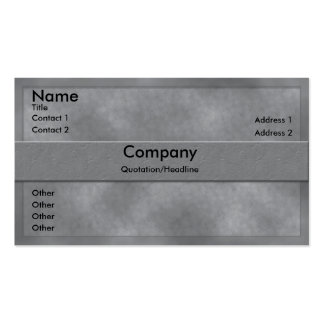 Gray Parchment Business Card