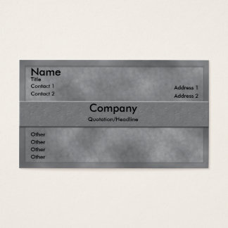 Gray Parchment Business Card