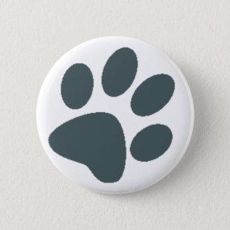 Gray Paw Print 6 Cm Round Badge
