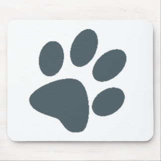 Gray Paw Print Mouse Pad