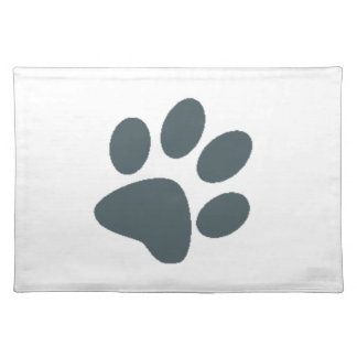 Gray Paw Print Placemat
