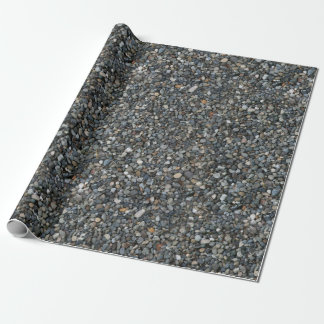 Gray Pea Gravel Rocks Pebbles Wrapping Paper