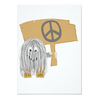 Gray Peace Card