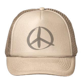 Gray Peace Sign Cap