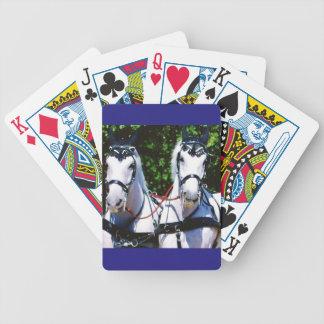 Gray Percheron Bicycle Playing Cards