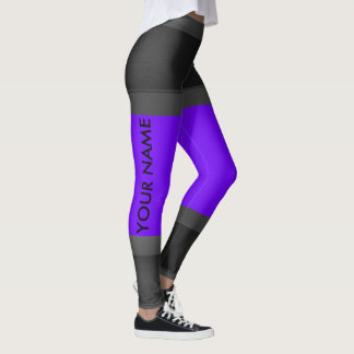 Gray Personalize Leggings Purple Change The Color