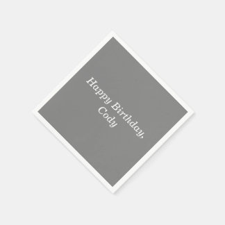 Gray Personalized All Occasion Disposable Napkins Disposable Napkin