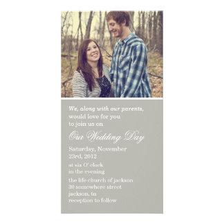 Gray Photo Cards Wedding Invites