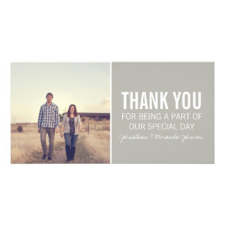Gray Photo Thank You Cards Personalised Photo Card