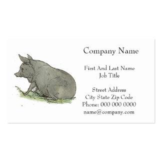 Gray Pig Piggy Children's Book Illustration Business Card Templates