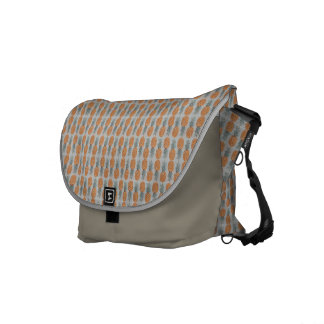 Gray Pineapple Pattern Messenger Bag