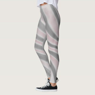 Gray Pink Airbrush Stripes - Leggings