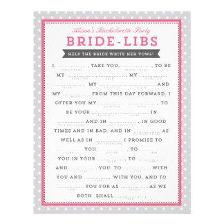 Gray & Pink Bride Libs Game 21.5 Cm X 28 Cm Flyer