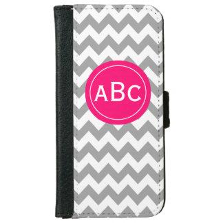 Gray Pink Chevron Monogram Phone Case