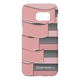 gray pink wavy
