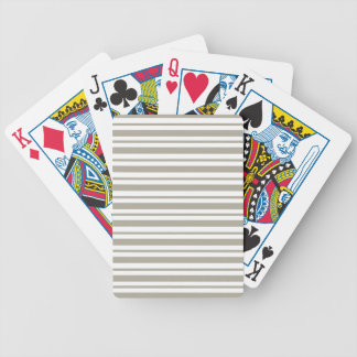 Gray Pinstripe Bicycle Playing Cards