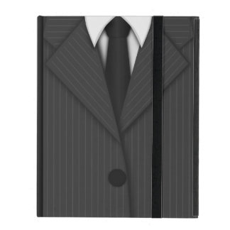 Gray Pinstripe Suit and Tie Powis iCase iPad Case