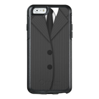 Gray Pinstripe Suit & Tie Grey Otterbox iPhone 6 OtterBox iPhone 6/6s Case