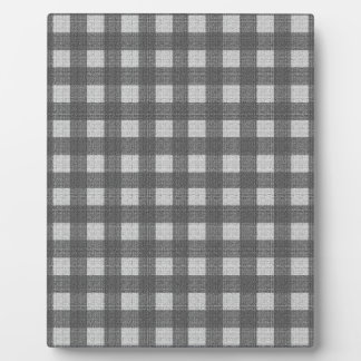 Gray plaid pattern plaques
