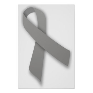 Gray Political Statement Awareness Ribbon Poster